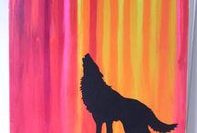 obrazki malowane farbami