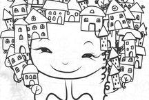 Ilustrações e pôsteres