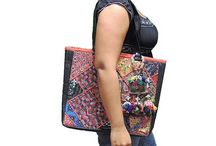 Embroidered Ethnic Handbags / Shoulder Bags and Handbags from India with fine embroidery and mirror work