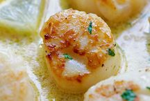 Creamy garlic scallop