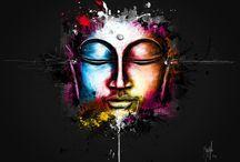 Bouddha toile