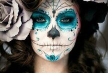 Sugar skull women makeup inspiration