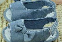 sapatinhos de tecidos