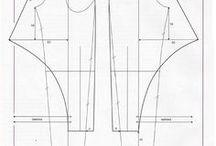 střihy kalhoty