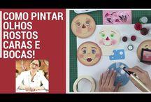Pinturas de rostos de bonecos