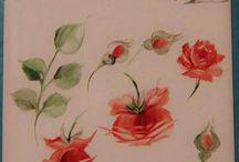 Paiting Roses /   tehnici in pictura trandafirului