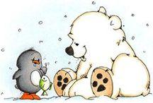 Mesevilág: Jegesmacik (Dreamland: Polar bear) / clip-art