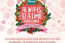 Dilmah Always Teatime Challenge – Christmas Edition / Teatime isn't a single occasion, it's a series of tea inspired moments in the morning, afternoon and evening.