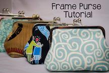 Metal frame purse