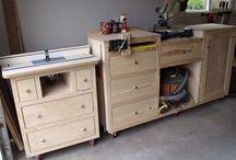 Oficinas, bancadas e armarios de ferramentas