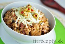 Hlavní chody: kuskus/bulgur/quinoa/jáhly