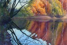 Wasserfarben Landschaften