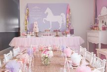 Éva's Unicorn n ballerina Party ideas