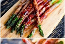 Bacon wrapped asparagas