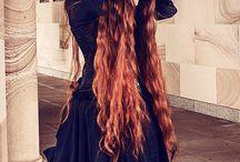 Redhead Medieval dress