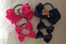 Complementos para el pelo / lazos, diademas, tocados.. a juego con sus vestidos, el uniforme del colegio, para una ocasión especial... personalizados