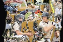 Baseball Collages / Photographs taken of your athlete and designed into a collage