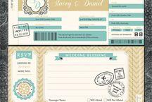 Travel themed wedding / Travel wedding theme