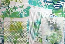 Gelli Plate Time / Ideas and samples using gelli plates!