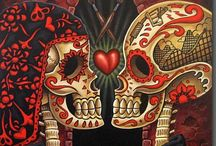 """Hallow's Eve y Dia de los Muertos!!  / October typically brings a """"little"""" cooler weather to us here in south central Texas, but it, also, brings one of my favorite holidays and memorial times (Halloween and Dia de los Muertos)!!! / by Heather Cron"""