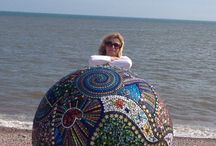 Floating Glass Mosaic Balls / Examples of my own work