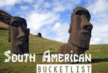 South America / A South American travel planning board.