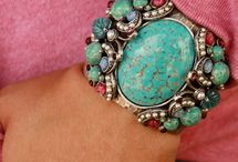 Southwestern jewelry (rings, bracelets,earrings,and cuffs) / Turquoise, coral, and other semi-precious stone s / by Delfina Gomez