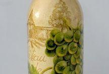 Декор бутылок, банок, ваз