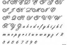 litery cyfry