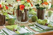 Football table party decorations