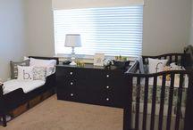 Shared room toddler newborn