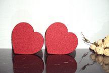 Corações decorativos