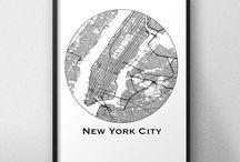 Affiches de ville Etats-unis