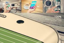 Samsung Galaxy S6 Edge Plus Mockup / Graphic design mockup of Samsung Galaxy S6 Edge Plus phone.