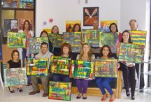 Team Building Events / Here's how your company can make your team building FUN!! Best part, your employees get to keep their paintings!!!