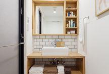 個性豊かな洗面室