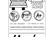 School Days Stamp Set