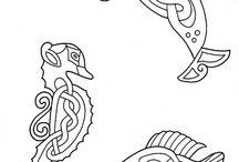 Kelta minták / kelták mitológiai mintái, tetoválási mintái, stb...