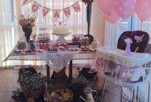 Festa da Giovanna! Primeiro aniversário (Giovanna's Party! First Birthday) / Festa de um aninho da filhota Giovanna. Tema Jardim Secreto Elementos da decoração: rústico e Shabby Chic