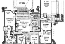 Plan the space / Floor plans that I am gathering in case we ever get to build a home.  / by Diana Walters