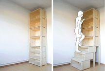Stair, Shelve, Drawer
