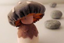 waldorf dolls, elves, fairies