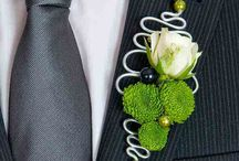 Floral jewellery and boutonnieres