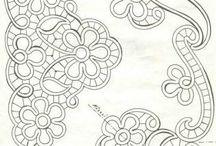 Beyaz iş desenleri ve dantel angles