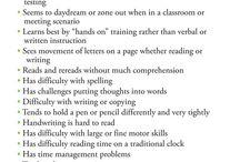 Dyslexia/sld