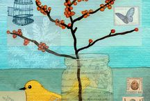 Term 4 ideas Collage with Birds