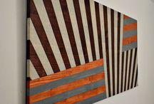 Arte murale in legno