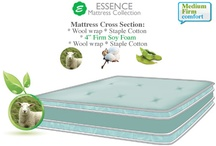 Latex & Wool Futon Mattresses / 100% petroleum free futon mattresses made with soft virgin Wool & springy natural organic Latex. Latex mattresses offer superior support while Wool provides body temperature control. These natural Latex and Wool mattresses are perfect for platform bed or convertible sofa bed frames.
