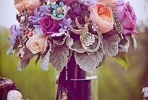 Plum and peach wedding