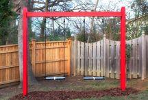 DIY outside play yard / by Lindsey Nunley